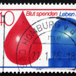 Postage stamp Germany 1974 Drop of Blood and Police Light — Stock Photo #36112857