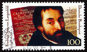 Postage stamp Germany 1991 Friedrich Spee von Langenfeld, Poet — Stock Photo