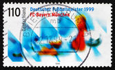 Postage stamp Germany 1999 Bayern Munchen, German Soccer Champio — Stock Photo