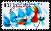 Postage stamp Germany 1999 Bayern Munchen, German Soccer Champio — Zdjęcie stockowe