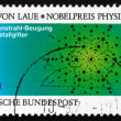 Postage stamp Germany 1979 Atom Arrangement in Crystals — Stock Photo