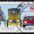 Postage stamp Germany 1986 Benz Tricycle, Saloon Car — Stock Photo