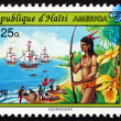 Postage stamp Haiti 1993 Discovery of America — Stock Photo
