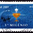 Postage stamp Brazil 2000 Chalice and Eucharist — Stock Photo