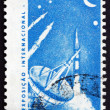 Postage stamp Brazil 1963 Radar Tracking Station and Rockets — Stock Photo #36283693