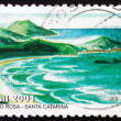 Stock Photo: Postage stamp Brazil 2001 Rosa, Beach