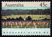 Postage stamp Australia 1992 Margaret River, Western Australia — Stock Photo