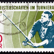 Stock Photo: Postage stamp GDR 1968 Angler
