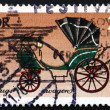 Stock Photo: Postage stamp GDR 1976 Coach, Court Landau, Saxony, 1840