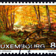 Stock Photo: Postage stamp Luxembourg 1982 Larger Hallerbach, by Guido Op