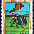 Postage stamp Cuba 1970 Plowing Field — Stock Photo