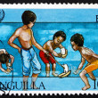 Postage stamp Anguilla 1981 Boys Sailing Boats — Stock Photo