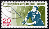 Postage stamp GDR 1968 Angler — Stock Photo