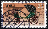 Postage stamp GDR 1976 Coach, Court Landau, Saxony, 1840 — Stock Photo