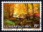 Postage stamp Luxembourg 1982 The Larger Hallerbach, by Guido Op — Stock Photo