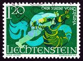 Postage stamp Liechtenstein 1967 The Giant of Guflina — Zdjęcie stockowe