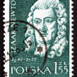 Postage stamp Poland 1959 Isaac Newton, English Scientist — Stock Photo #36581609