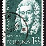 Postage stamp Poland 1959 Isaac Newton, English Scientist — Stock Photo