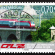 Postage stamp Luxembourg 2006 Train on Bridge — Stock Photo #36581831