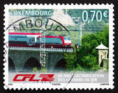 Postage stamp Luxembourg 2006 Train on Bridge — Stock Photo