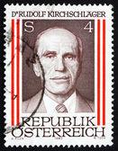 Postage stamp Austria 1980 Rudolph Kirchschlager — Stock Photo