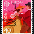 Postage stamp Switzerland 1981 Couple Dancing in Native Costumes — Stock Photo