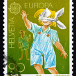 Stock Photo: Postage stamp Switzerland 1989 Blindman's Buff, Children