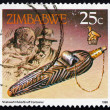 Stock Photo: Postage stamp Zimbabwe 1990 Snuff Box