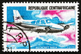 Postage stamp Central African Republic 1967 Beechcraft Baron, Ai — Stock Photo