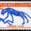 Postage stamp Dahomey 1963 Panther and Man — Stock Photo