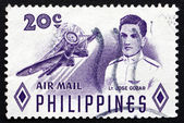 Postage stamp Philippines 1955 Lt. Jose Gozar, Aviator — Stock Photo