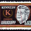 Postage stamp Uruguay 1965 John F. Kennedy, President — Photo #36900513