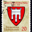 Postage stamp Liechtenstein 1964 Arms of Counts of Werdenberg-Va — Stock Photo #36995419