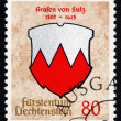 Postage stamp Liechtenstein 1964 Arms of Counts of Sulz — Stock Photo #36995747