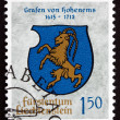 Postage stamp Liechtenstein 1964 Arms of Counts of Hohenems — Stock Photo #36996321