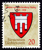 Postage stamp Liechtenstein 1964 Arms of Counts of Werdenberg-Va — Stock Photo