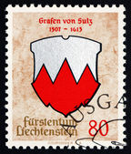 Postage stamp Liechtenstein 1964 Arms of Counts of Sulz — Stock Photo