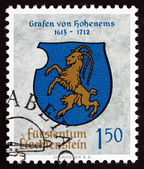 Postage stamp Liechtenstein 1964 Arms of Counts of Hohenems — Stock Photo