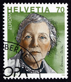 Postage stamp Switzerland 1996 S.Corinna Bille, Writer — Stock Photo