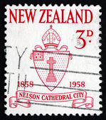 Postage stamp New Zealand 1958 Nelson Diocese Seal — Stock Photo