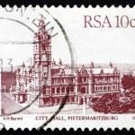 Postage stamp South Africa 1983 City Hall, Pietermaritzburg — Stock Photo