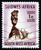 Postage stamp South West Africa 1961 Finger of God Rock, Asab — Stock Photo