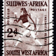 Stock Photo: Postage stamp South West Afric1987 Rock Painting of White Lady