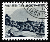 Postage stamp Liechtenstein 1944 View of Mauren, Liechtenstein — Stock Photo