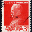 Stock Photo: Postage stamp Cub1953 Francisco CarrerJustiz, Educator