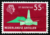 Postage stamp Netherlands Antilles 1973 De Ruyter Obelisk — Stock Photo