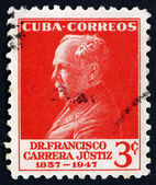 Postage stamp Cuba 1953 Francisco Carrera Justiz, Educator — Stock Photo