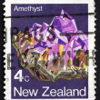 Postage stamp New Zealand 1982 Amethyst, Export — Stock Photo