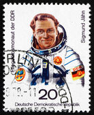 Postage stamp GDR 1978 Sigmund Jahn, 1st German Cosmonaut — Stock Photo