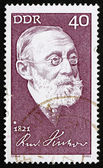 Postage stamp GDR 1971 Rudolf Carl Virchow, Doctor — Stock Photo